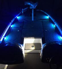 Blue Deck Lights