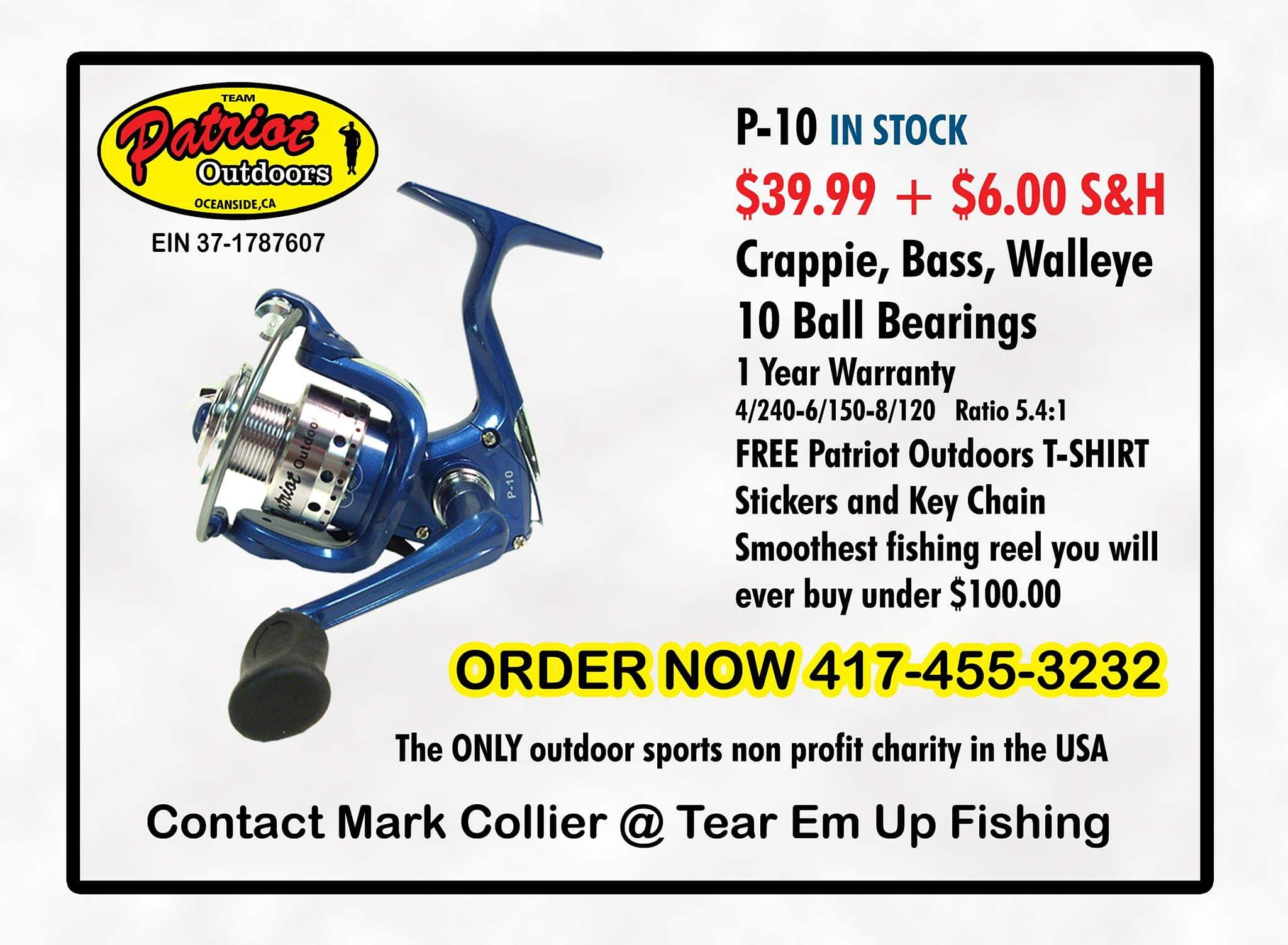 Patriot Outdoors P-10 Spinning Reel